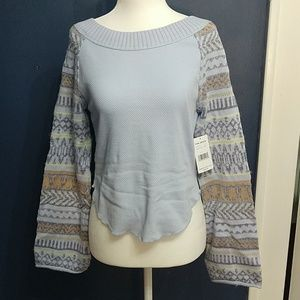 Free People Periwinkle Sweater Size S NWT